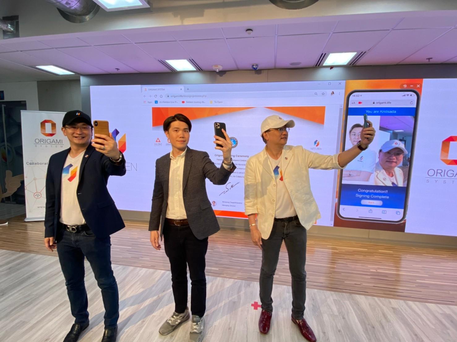 ทีมผู้บริหารจาก เนทติเซนท์ จำกัด และพัฒนา อินเตอร์คูล ร่วมลงนามวางระบบ Origami.Life Collaboration Platform ด้วยเทคโนโลยี Face Recognition
