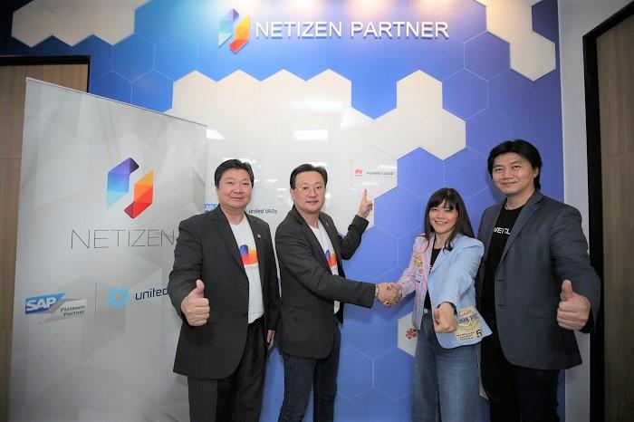ผู้บริหารเนทติเซนท์และหัวเว่ย เทคโนโลยี่ (ประเทศไทย) ผนึกกำลังเป็น Business Partner ขับเคลื่อนธุรกิจไทยด้วย netizen.cloud