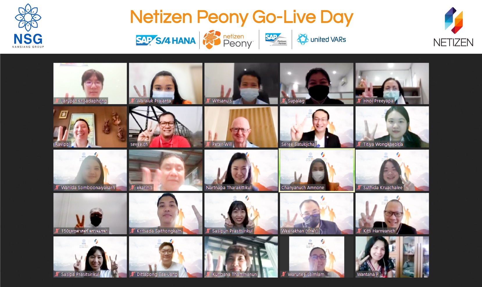 Netizen organized with the first online Go Live event to celebrate Peony Day for Namsiang Group
